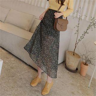 A-line Maxi Chiffon Skirt