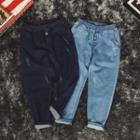 Band Waist Harem Jeans
