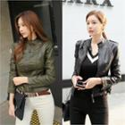 Slim-fit Faux-leather Jacket