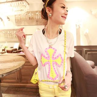 Short-sleeve Studded T-shirt