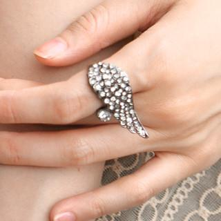 Rhinestone Wing Ring