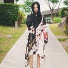 Japanese-style Printed Jumper Skirt