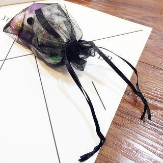 Mesh Drawstring Pouch Black - One Size