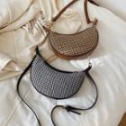 Houndstooth Saddle Crossbody Bag