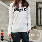 Lettering Long Sleeve Top