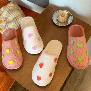Heart Pattern Slippers