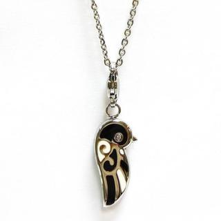 Love Bird Pendant With Necklace White, Black - One Size