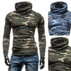 Turtleneck Camo Pullover