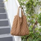 Knit Tote Bag With Shoulder Strap