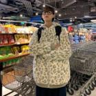 Leopard Hood Zip Jacket