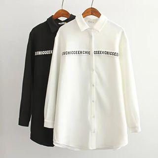 Letter Applique Shirt
