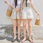 Drawstring Paperbag-waist Shorts