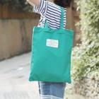 Applique Canvas Shopper Bag