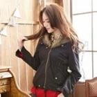 Detachable Furry-collar Drawstring Jacket