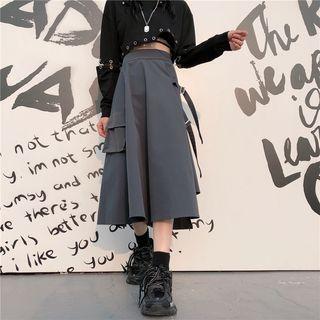 Asymmetrical A-line Cargo Skirt