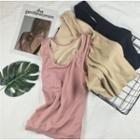 Plain Fleece-lined Tank Top