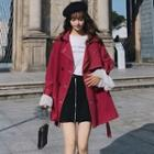 Contrast Stitching Double-breasted Trench Jacket