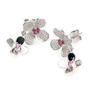 Tourmaline Plum Earrings