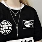 Alloy Lock & Key Pendant Necklace