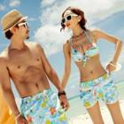 Floral Couple Bikini Set / Beach Shorts
