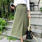 A-line Long Wrap Skirt