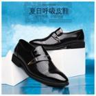 Genuine-leather Cutout Dress Shoes