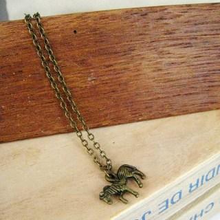 Copper Little Horse Short Necklace Copper - One Size