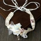 Wedding Flower Lace Headpiece Hair Band - One Size