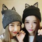 Embellished Cat Ear Beanie