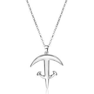925 Sterling Silver Anchor Pendant Necklace Silver - One Size