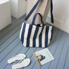 Stripe Canvas Shoulder Bag