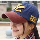 Lettering Embroidered Baseball Cap