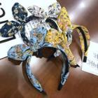 Floral Print Bow Headband