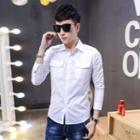 Pocketed Plain Shirt
