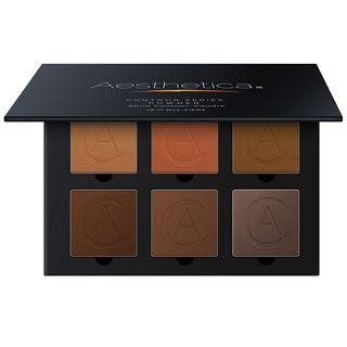 Aesthetica Cosmetics - Square Pressed Powder Contour Kit (tan To Dark) As Figure Shown