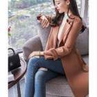 Plain Trench Coat With Belt
