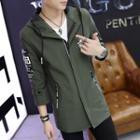 Printed Long Hooded Jacket