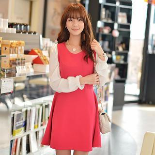 Color-block A-line Dress