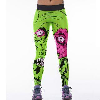 Printed Leggings As Figure Shown - One Size
