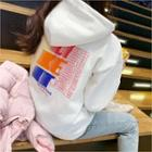 Letter-printed Napped Hoodie