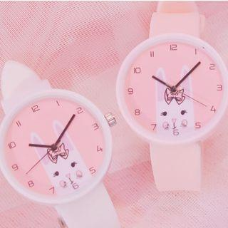 Rabbit Print Strap Watch