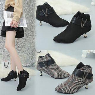 Lattice Zipper High-heel