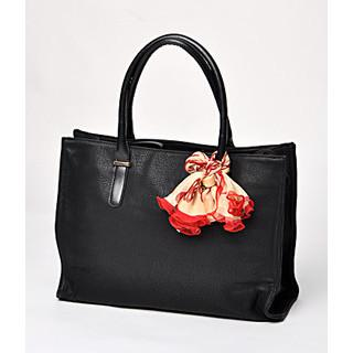 Scarf-accent Tote Black - One Size