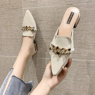 Pointy Chained Mules