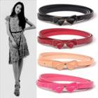 Ribbon Accent Slim Belt