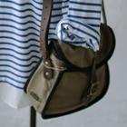 Buckled Flap Canvas Cross Bag