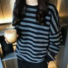Striped Pullover / Cropped Harem Pants