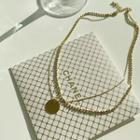 Layered Ball-chain Necklace Gold - One Size