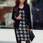 Long Sleeve Patterned Dress