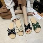 Dotted Cross Strap Sandals